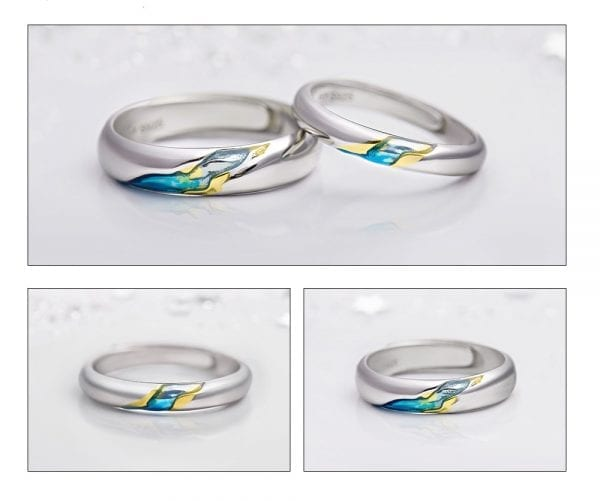 3 Thaya S925 Silver Couple Rings The Other Shore Starry Design Rings for Women Men Resizable Symbol
