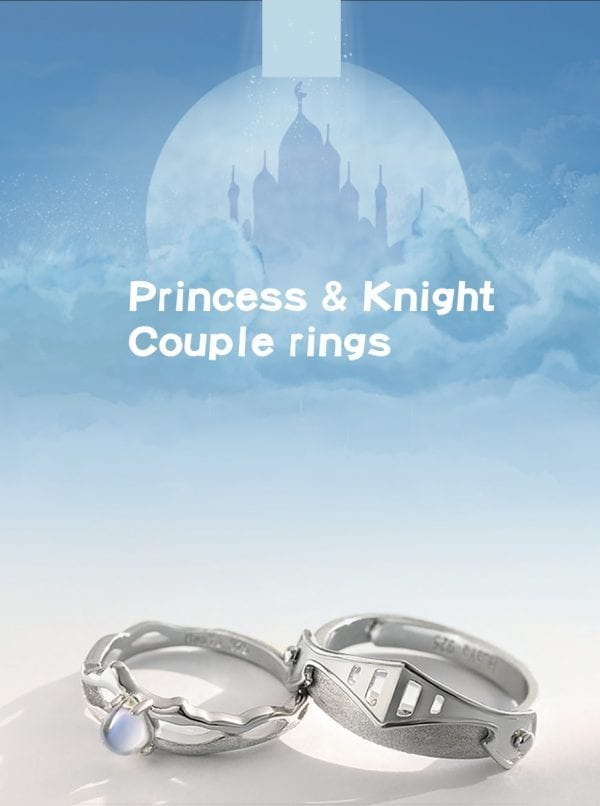 King and Queen Rings Set