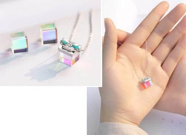 Fluorescent Gift Box Necklace