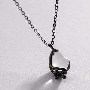 Clear Moonstone Necklace