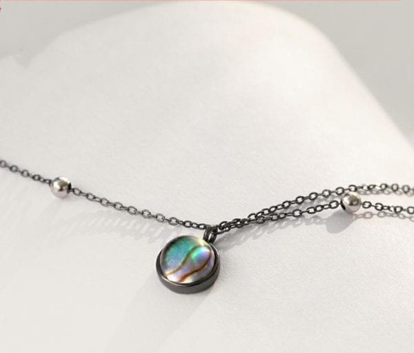 0 Thaya Star Planet Space Milky Way 100 s925 Silver Pendant Necklace Galaxy Crystal Black Chain for