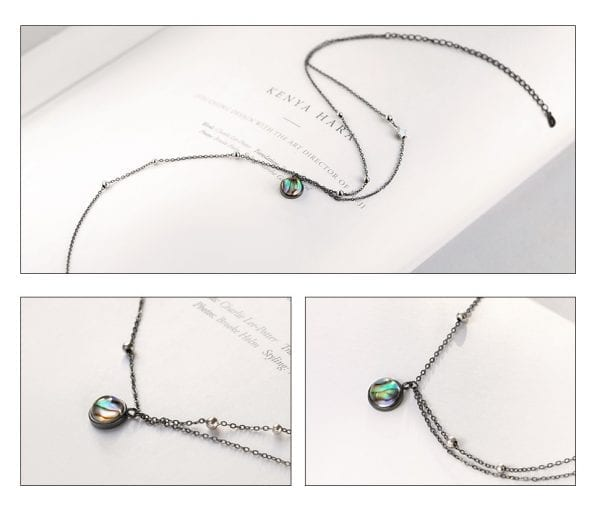 3 Thaya Star Planet Space Milky Way 100 s925 Silver Pendant Necklace Galaxy Crystal Black Chain for