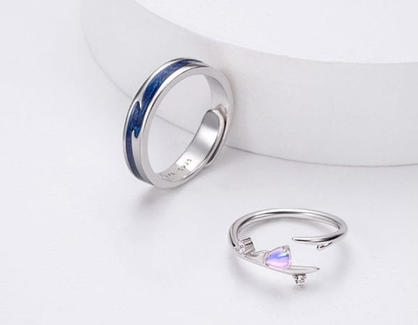 Sterling Silver Couple Ring