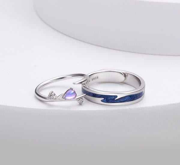 Sterling Silver Couple Ring 2