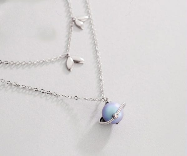 solar system necklace planet jewelry planetary necklace planet necklace space necklace